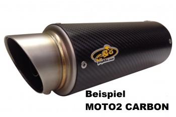 G&G SPORTSCHALLDÄMPFER CARBON - MOTO2 - TDM 850