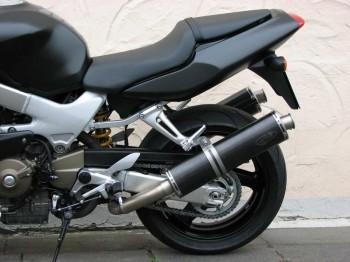G&G SPORTAUSPUFF BLACK INOX - VTR1000F STANDARD ENDCAP