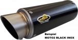 G&G SPORTSCHALLDÄMPFER BLACK INOX - MOTO2 - TDM 850