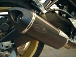 G&G SPORTAUSPUFF BLACK INOX - FZ8 - MIT ENDKAPPE SPITZ - 300mm
